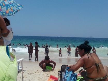 Bading på Copacabana
