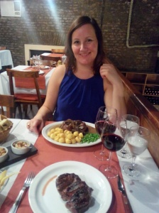 Biffmiddag på Caldén del Soho
