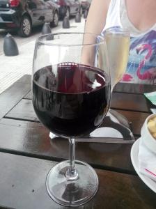 Ordentlig glass vin i Buenos Aires