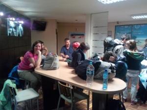 Kontoret til busselskapet i La Paz
