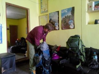 Pakker om i Uyuni