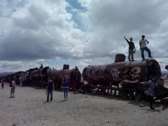 Lokomotiver i Uyuni
