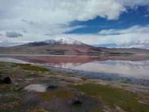 Den røde lagune som speil