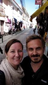 Selfie i ei gate i La Paz