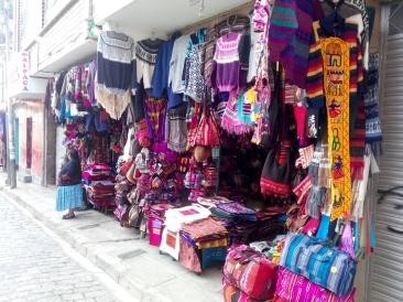 Typisk butikk i La Paz