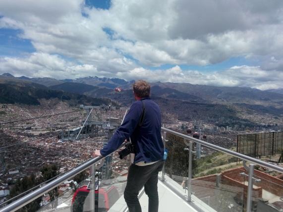 Thomas på toppen av La Paz