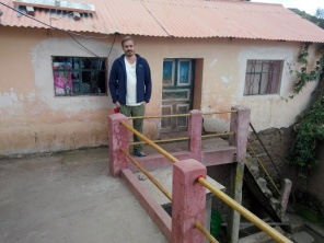 På balkongen til familien
