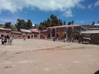 Torget på Taquile
