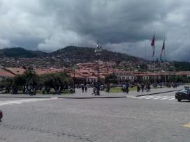 Oversiktsbilde av Plaza de Armas, Cusco