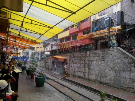 Regnvær i Aguas Calientes