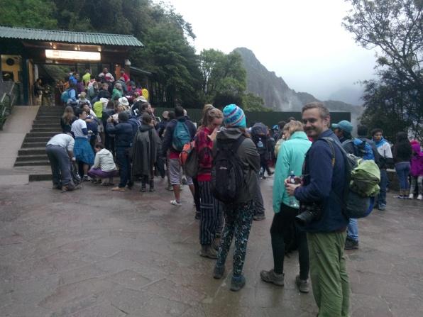 Inngangsområdet til Machu Picchu