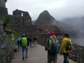 Første steg på Machu Picchu