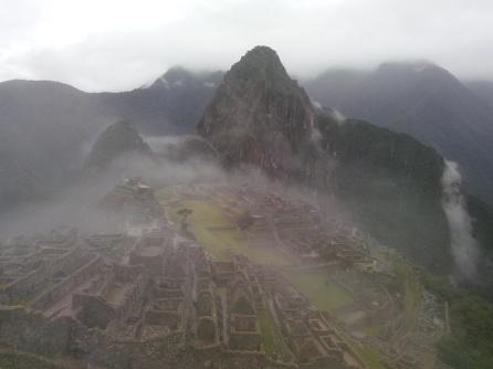 Machu Picchu i tåkeslør