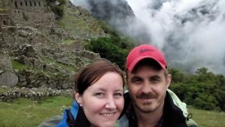Oss i sentrum av Machu Picchu