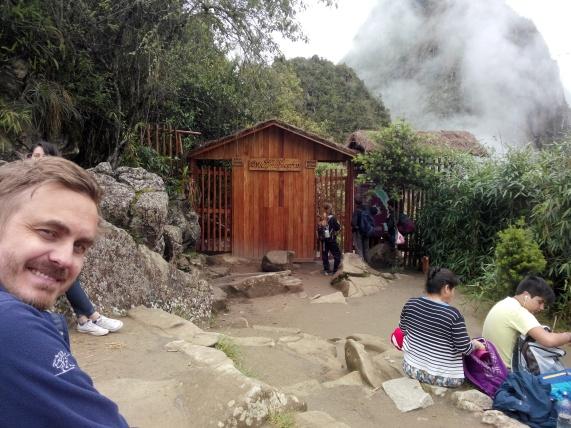 Venter på å komme inn til Wayna Picchu
