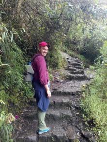 Trappene opp mot Wayna Picchu
