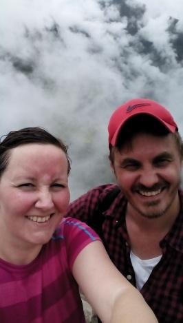 Oss på toppen av Wayna Picchu