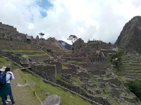 Bratt del av Machu Picchu