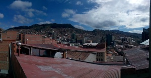 Utsikt fra hotell Sagarnaga