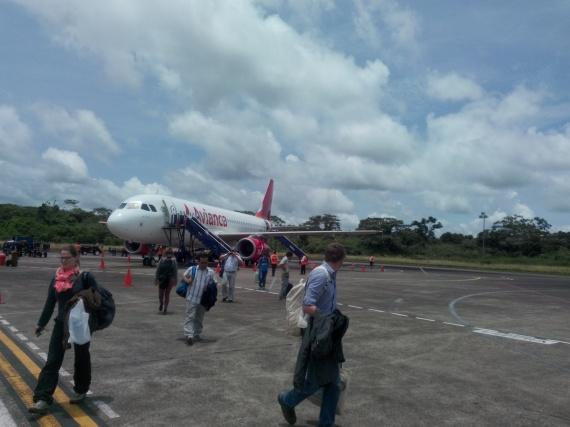 Flyet har landet i Puerto Maldonado