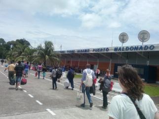 Flyplassen i Puerto Maldonado
