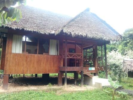 Vår bungalow utenfra