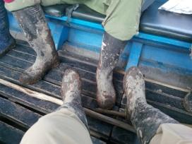 Skitne støvler