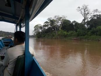 På vei oppover elven