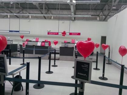 Valentines day på flyplassen i Puerto Maldonado