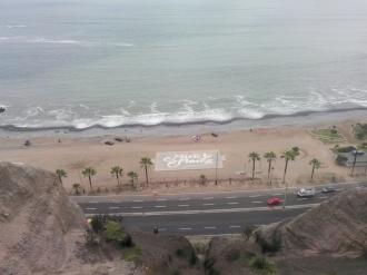 Miraflores skilt på stranden