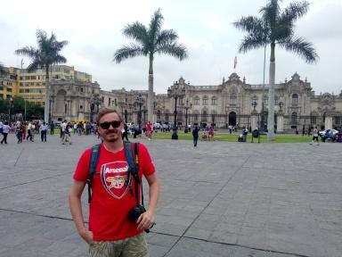 Plaza de Armas, i sentrum av Lima