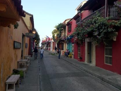 Koselig gate i Cartagena