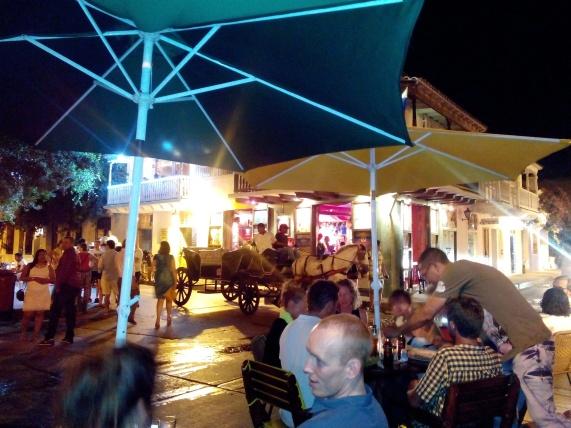 Utsikt fra stamstedet i Cartagena