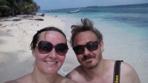 Selfie på stranden