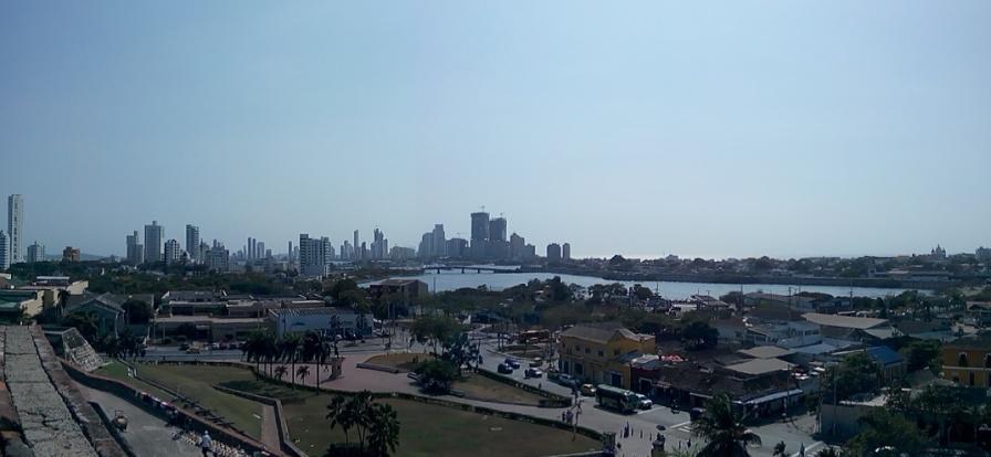 Panorama av Cartagena, tatt fra fortet