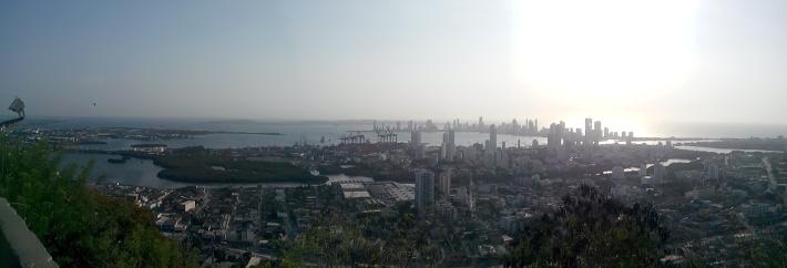 Panorama over Cartagena, tatt fra klosteret