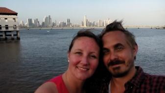 Selfie foran skyline