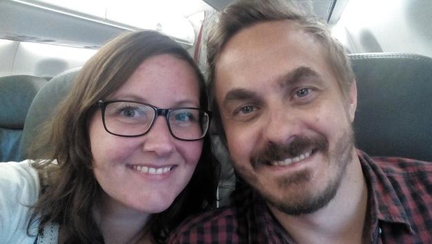 På flyet til Nicaragua