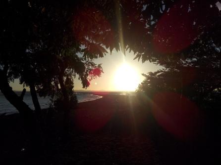 Solnedgang på Punta Jesús Maria