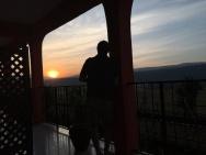 Solnedgang på Highview