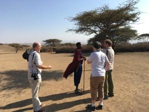 Besøk hos masaier