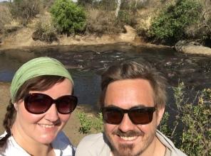 Selfie med flodhester