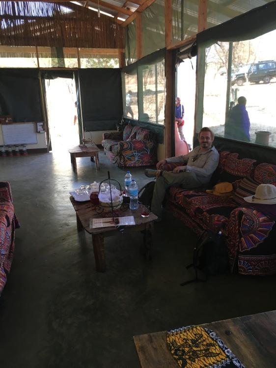Innsjekking i Ngorongoro Wildcamp