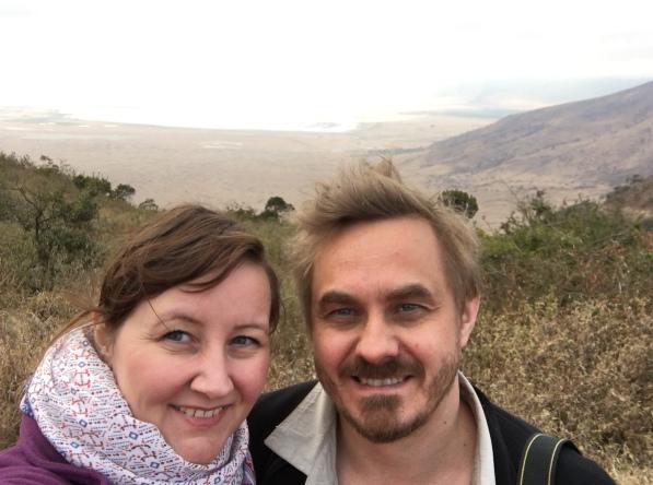 På kratertoppen