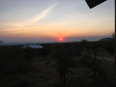 Solnedgang i Ngorongoro