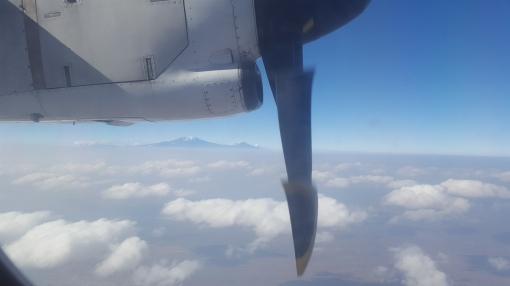 Kilimanjaro på babord side