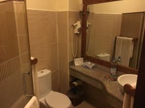Litt av toalettet i bungaloven
